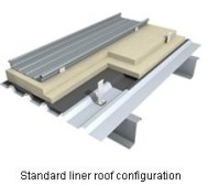 standar liner roof kalzip